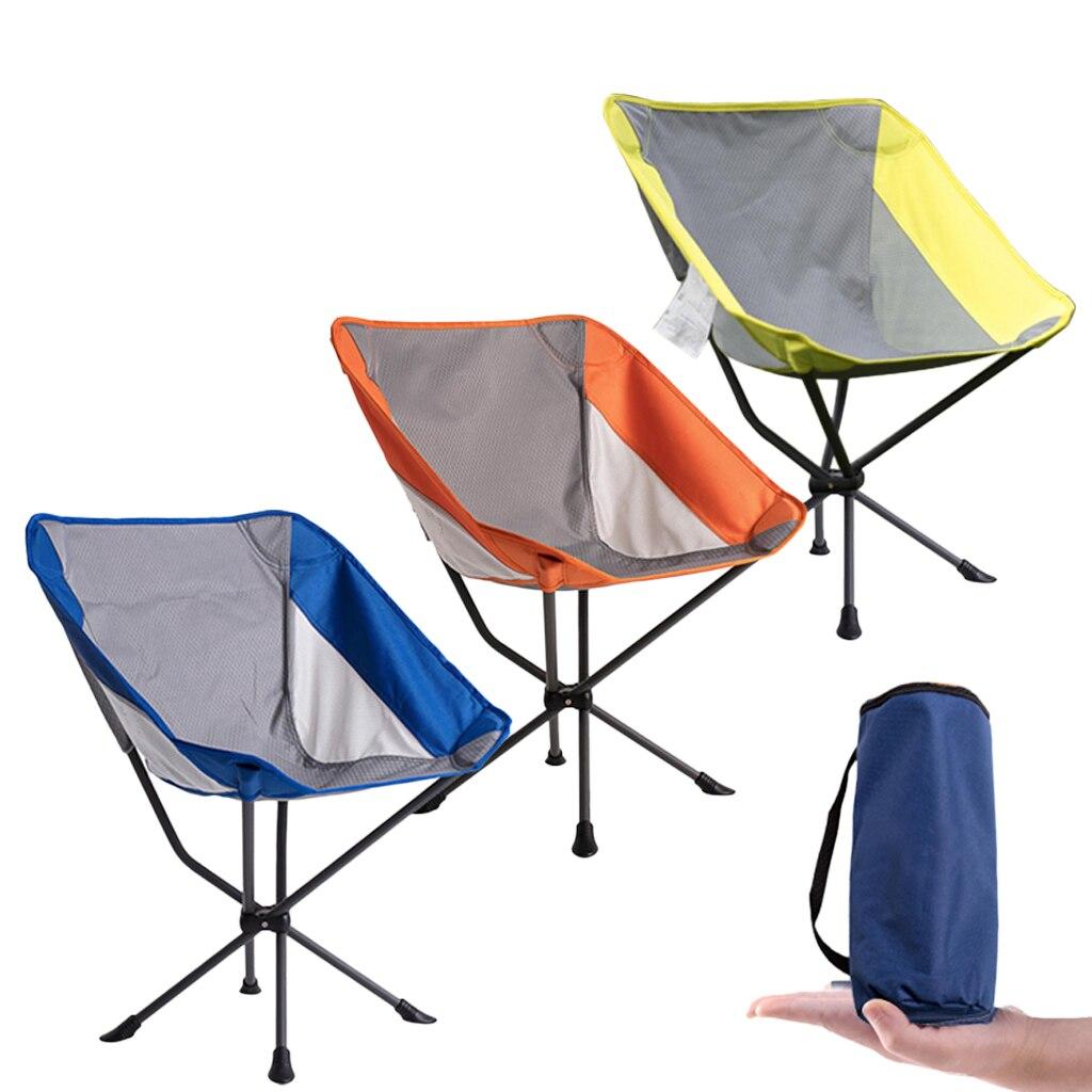 Chaise de Camping pliable en plein air barbecue plage pêche lune siège chaise longue pour sac à dos randonnée outils de plein air accessoires