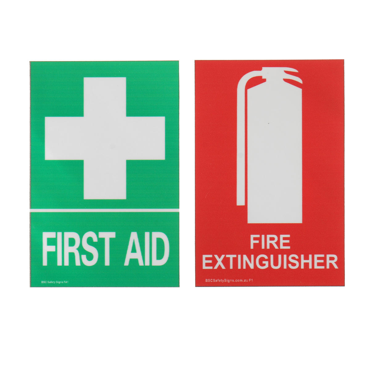 100x66mm First Aid Fire Extinguisher PVC Sticker Sign Decal Set For Outdoor Safety And Survival Emergency Urgent