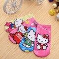 4 par/lote impresión 3D de dibujos animados minions calcetines de tobillo para niñas niños hello kitty de los niños calcetines encantadores niños calcetines del bebé de la ropa