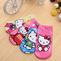 4pairs/lot Cartoon 3D print minions ankle socks for girls boys hello kitty children's socks lovely boys socks baby girl clothes