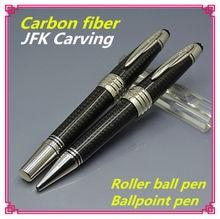 Limited edition Great JOHN F. KENNEDY monte black carbon fiber roller ball Pen best JFK clip mb writing ballpoint pen gifts