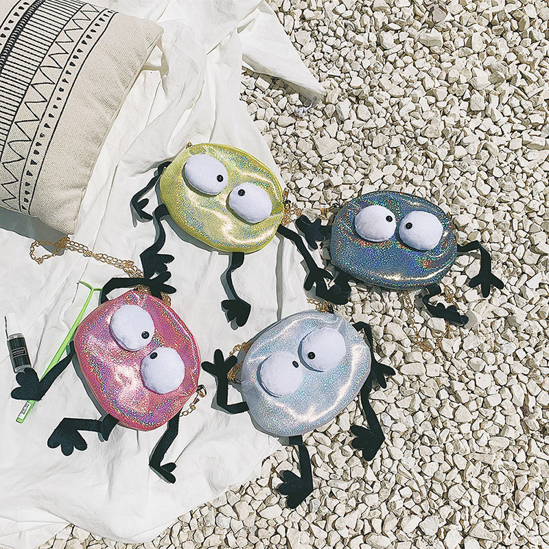 Laser Messenger Bag Lady Chain Mini Shoulder Bag Round Small Messenger Bag Lady Handbag and Wallet Evening Clutch in Top Handle Bags from Luggage Bags
