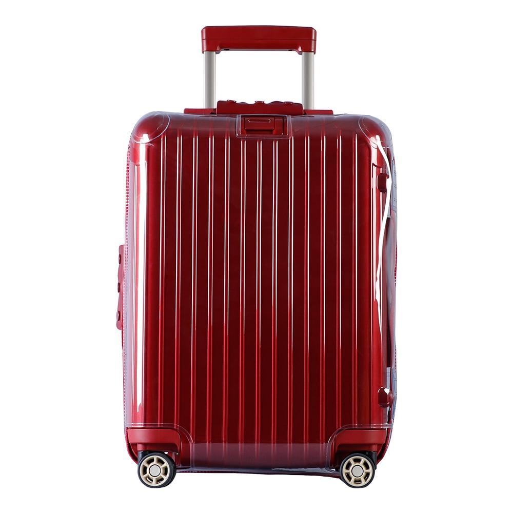 Rainvillage capas de bagagem mala capa clara protetor de bagagem pvc transparente com zíper para rimowa salsa deluxe