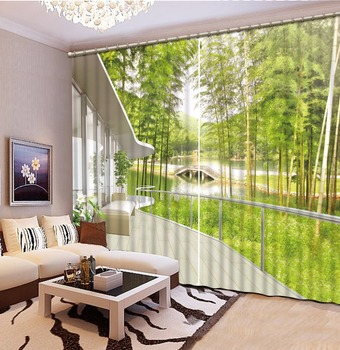 Custom Printing Curtains 3D Blackout Curtains For Living Room balcony decor Home Hotel Drapes Luxury Window Curtain