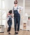 Rompers mulheres macacão macacão calça jeans meninas calças combinando mãe filha roupas família mamãe e me roupas
