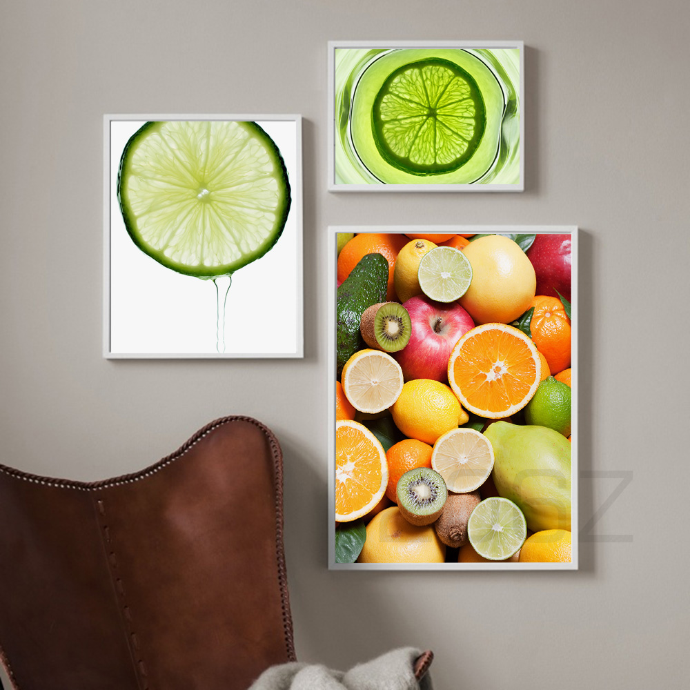 Lemon Orange Fruit Painting Modern Nordic Posters And Prints Wall Art Canvas Painting Wall Pictures For Living Room Home Decor