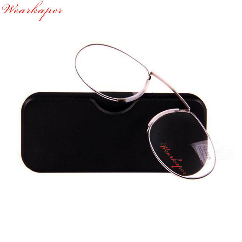 6f9a2a90eb8 WEARKAPER Thin Frame Portable SOS Wallet Reader Mini Reading Glasses With  Case Universal Readers Glasses Diopter +1.0 1.5 2 2.5