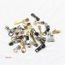 5# 20pcs High quality mix metal copper zipper head, clothing accessories,DIY Zipper Sliders Garment Accessories,X4