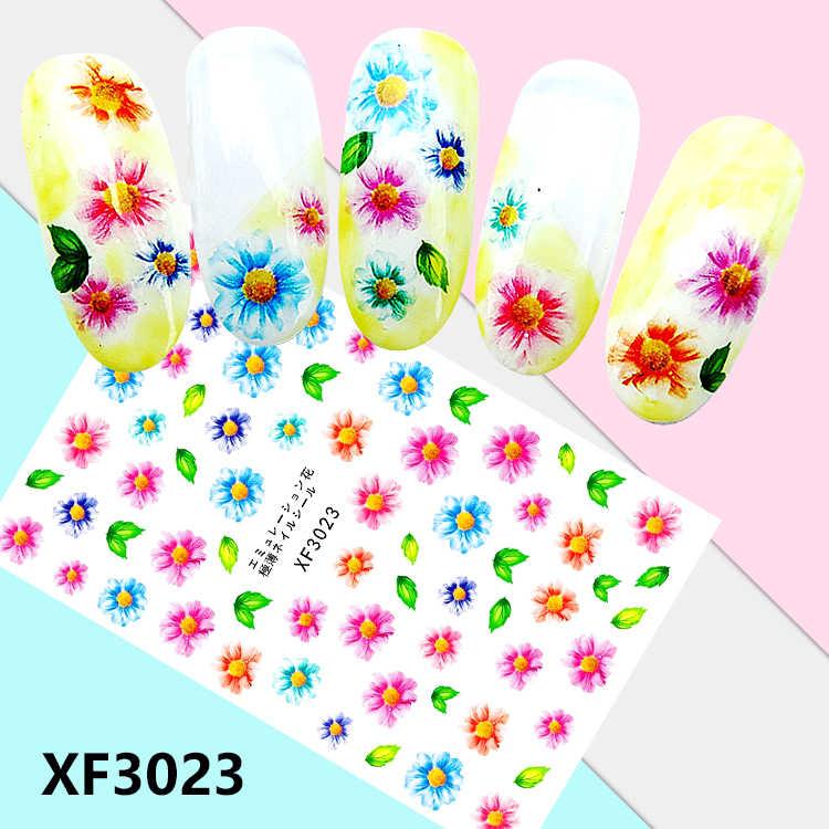 1PCS Nail Art Petal Plant Umbrella Ultra-Thin Self-Adhesive Varied Sticker Decals Back Glue Nail Beauty Stickers for Nails