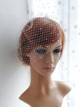 Bridal Birdcage Veil and  Beaded Veil, Blusher Veil,Short Wedding accessories