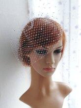 Bridal Birdcage Veil and  Beaded Birdcage Veil, Blusher Birdcage Veil,Short Veil Wedding accessories