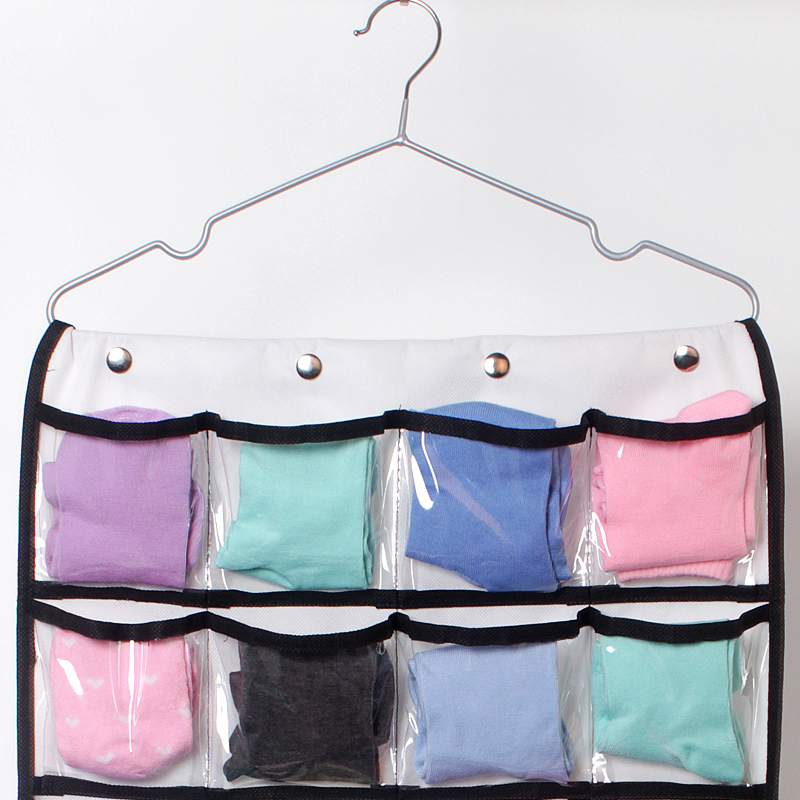 42 Pocket Hanging Closet Organizer for Pants Bra Socks Jewelry Storage Bag Wardrobe Closet Organizer hanging pocket organizer in Hanging Organizers from Home Garden