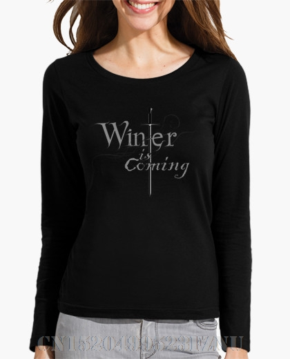 Autumn winter Favourite Long Winter is coming O neck Casual Cotton hip hop t shirt women