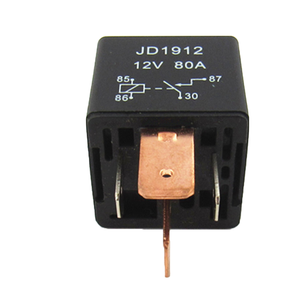 JD1912 Universal 12V 80A 4Pin DC AMP SPDT Automotive Car Starter Relay New