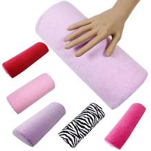 Cojín suave descanso media columna arte de uñas diseño manicura salón mano almohada titular uñas arte y herramientas