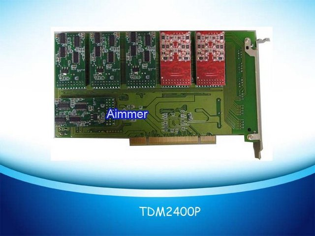 TDM2400P with 16FXO+8FXS modules Asterisk card for voip elastix trixbox ip pbx support dahdi driver