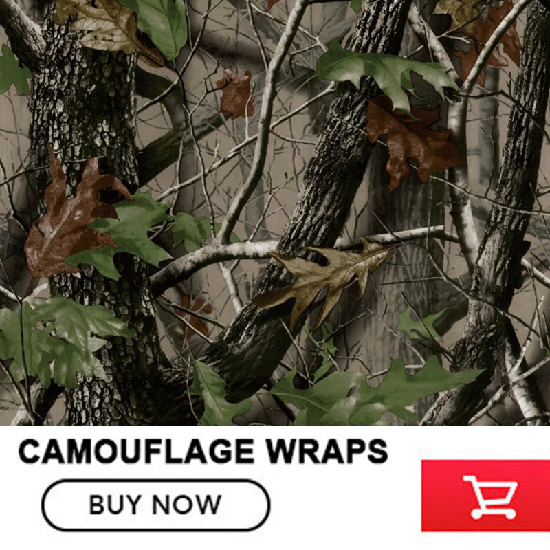 FS012 Camouflage Car Wrap Realtree Camo Vinyl Break up Jumbo Leaf Graphic PVC Car Styling Sticker Film Roof Hood Golf Cart Truck or fabric camouflage leaf headgear
