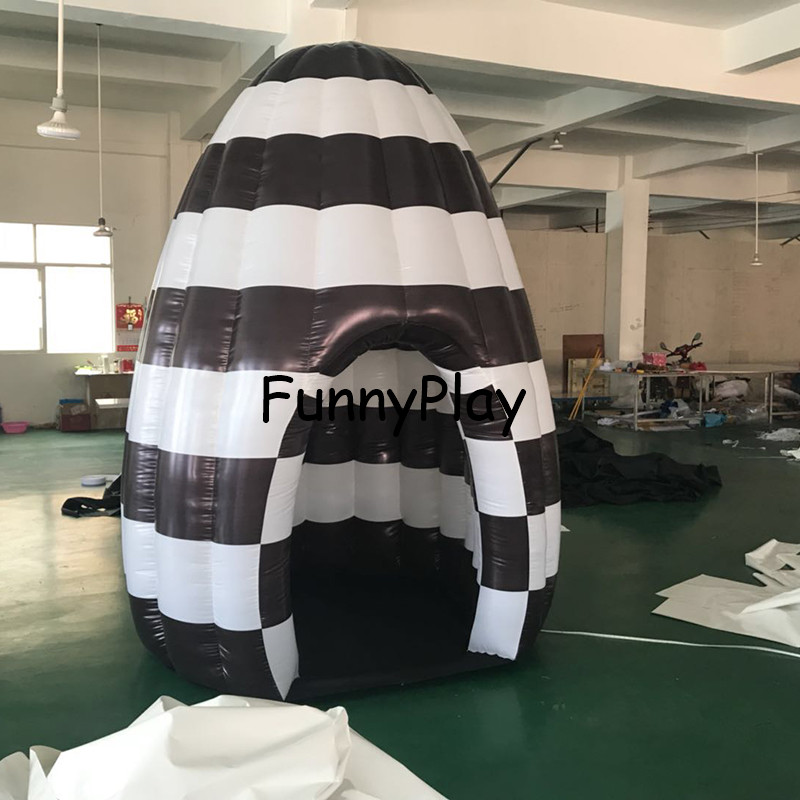 Able Colorful Changing Led Inflatable Photo Booth For Party With Good Lights System Inflatable Egg Shape Show Room For Fair 100% Guarantee