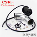 Регулируемый SQV выдувный клапан BOV II 2 + 63 мм 90 градусов фланец адаптер черный/серебристый