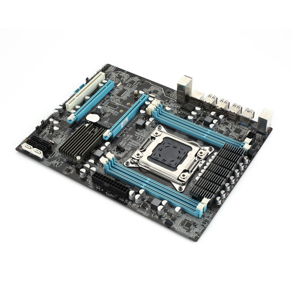 X79 2.4F Motherboard Intel x79/c60x chipset LGA2011 processor supported 4xchannel xDDR3 DIMM Realtek ALC662 5.1Channel Audio