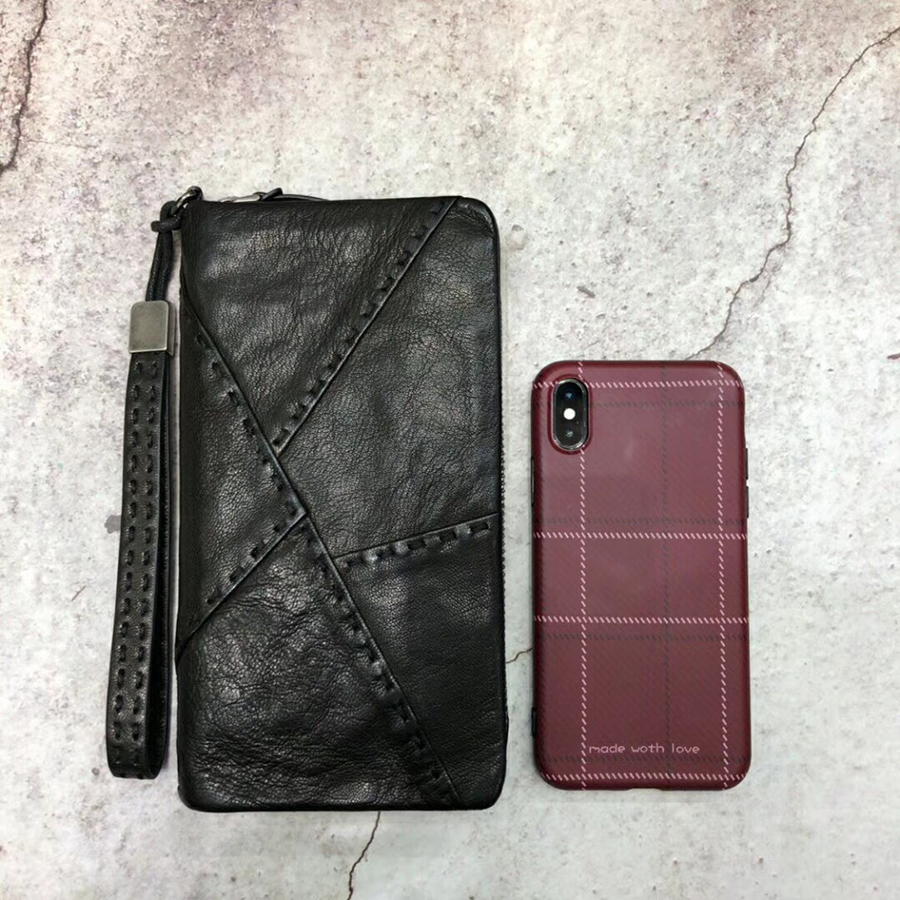new luxury High quality leather Men Purse Fashion Wallet Clutch Bag Long Male Wallet Hand Bag Card Holder carteira have box new trend man long wallet top layer cowhide hand take bag quality card holder male purse business notecase pr089007