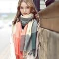 2016 Top Fashion Venda Quente Cashmere Inverno Xadrez Designer de Acrílico Cobertor Envoltório Xale Inverno Quente para As Mulheres E Homem