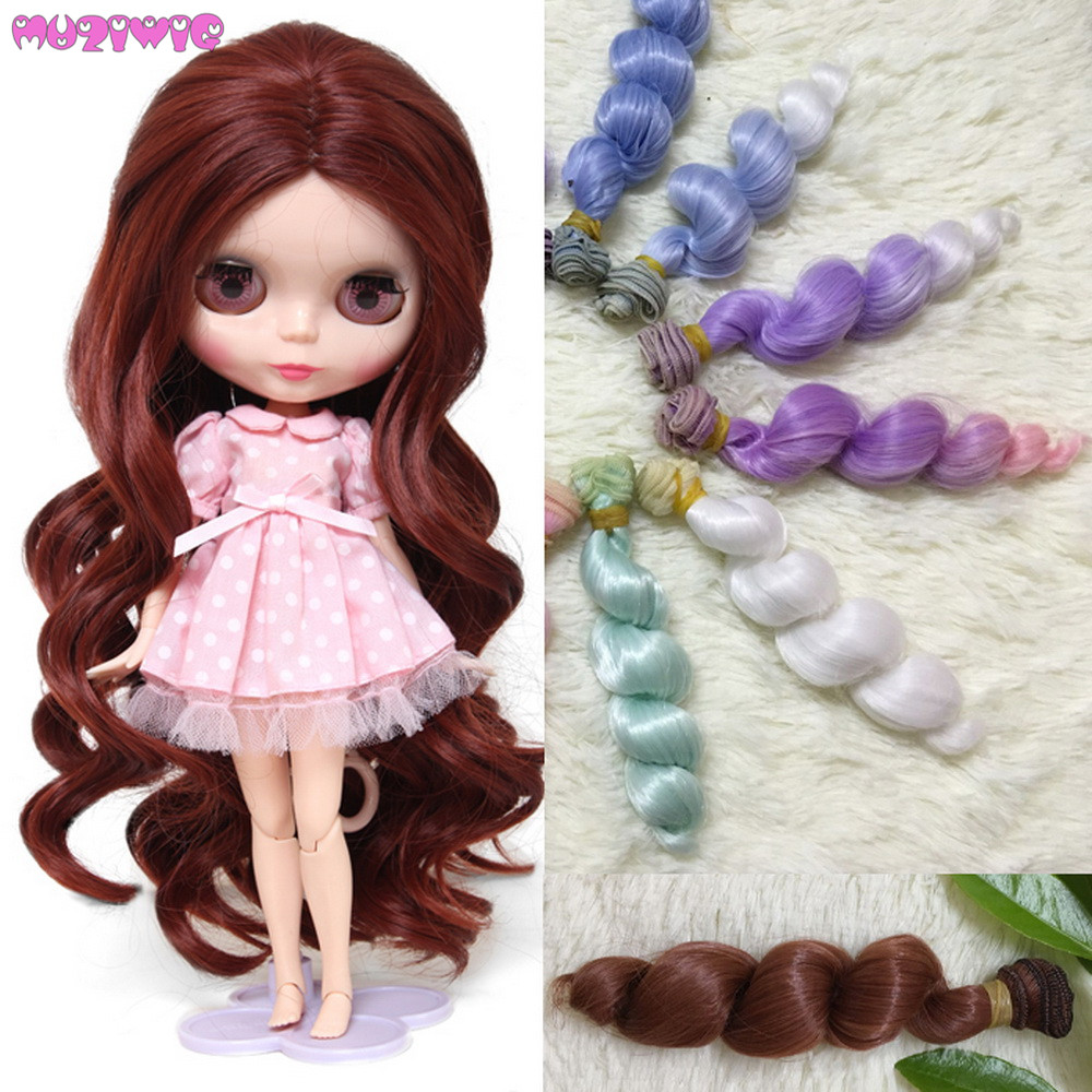Dolls Accessories 1pc 15cm Hair Extension Handmade Doll Wigs For Ye Luoli Sd Dolls Synthetic Fiber Curly Hair Wefts Diy Accessories Carefully Selected Materials