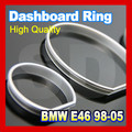 for BMW E46 98 05 Silver Cluster Rings Silver Gauge Rings Silver Dashboard Rings