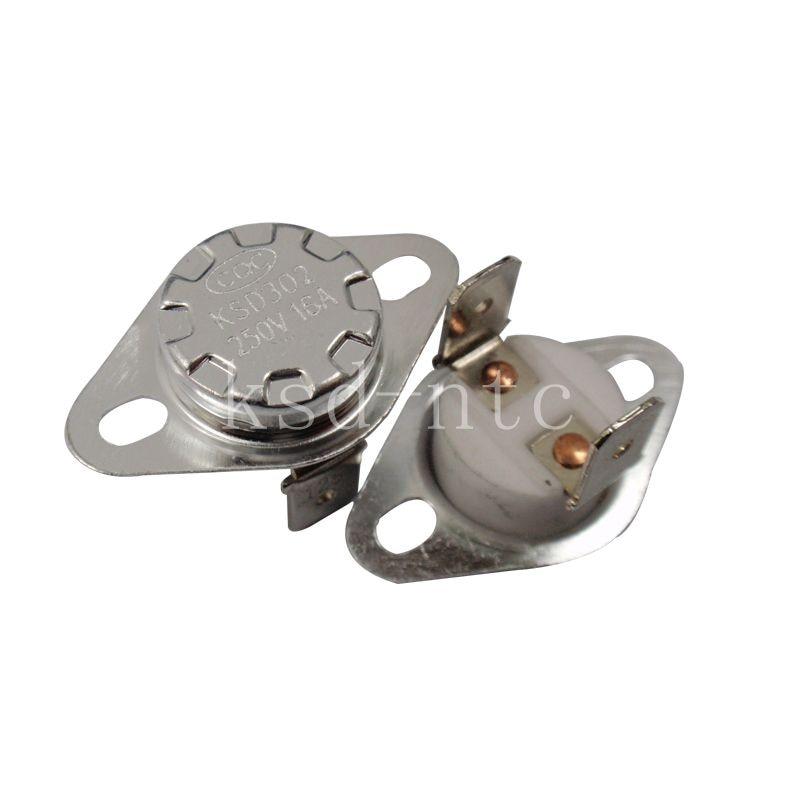 Bimetal Thermostat KSD302/KSD301 40C-300C Ceramics 16A250V 40C 45C 50C 120C 130C 85C 90C 95C 180C 250C 300C degrees thermal fuse