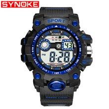 cda86046e683 SYNOKE Deporte Militar reloj marca G de lujo tipo de Shock reloj de muñeca  Digital relojes para hombre reloj Relogio Masculino