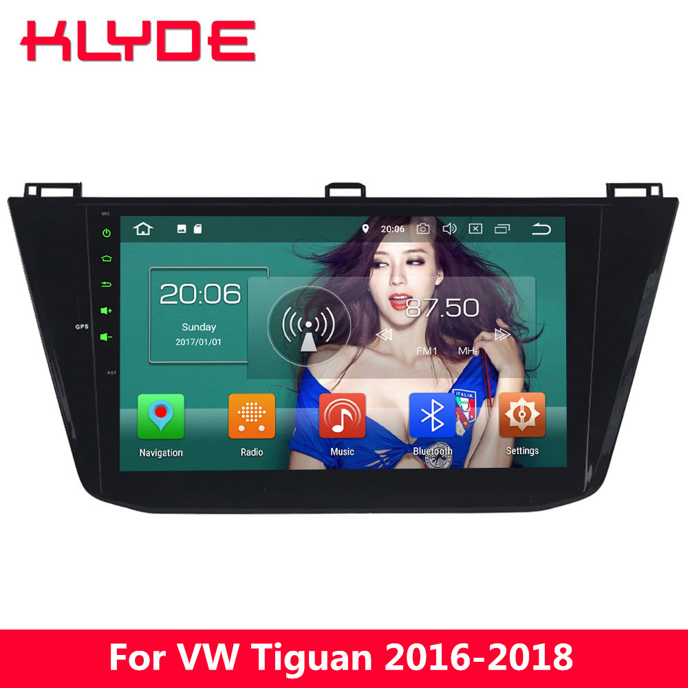 KLYDE 10.1 IPS 4G WIFI Octa Core Android 8.0 4GB RAM 32GB ROM Car DVD Multimedia Player For Volkswagen VW Tiguan 2016 2017 2018 image