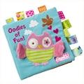 Bebé toys animal bordado perspectiva de trapos de tela libro del bebé libro de rompecabezas pequeño regalo del bebé
