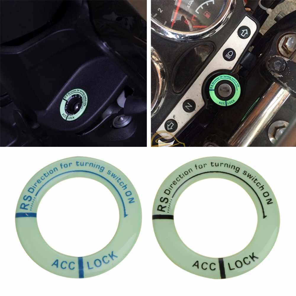 ใหม่รถเรืองแสง Key Hole สติกเกอร์สวิทช์สวิทช์ส่องสว่างรถจักรยานยนต์รูปลอก 2-สี C45