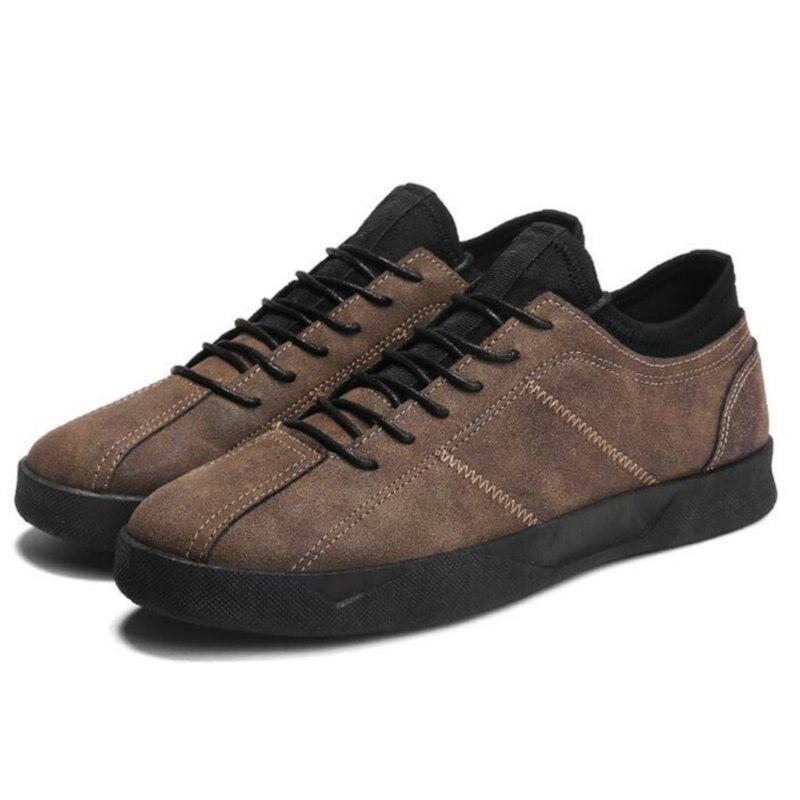 Hommes Ectic gris Ll Chaussures Plates Noir 012 Semelle Confortable Homme Véritable Caoutchouc Travail Cuir marron Doux Extérieure Léger 2018 En Snesker Occasionnel z1pqzxrw