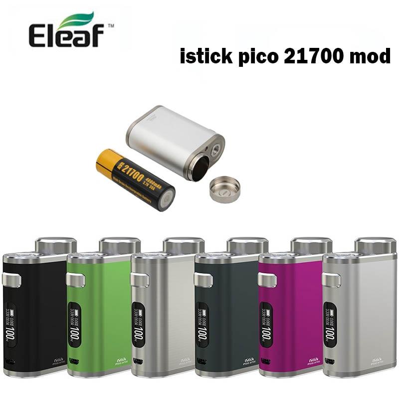 Eleaf iStick Pico 21700 100 W กล่อง Mod ใช้ 21700/18650 โทรศัพท์มือถือ istick pico vape mod elektronik sigara-ใน ตัวจุดบุหรี่ไฟฟ้า จาก อุปกรณ์อิเล็กทรอนิกส์ บน AliExpress - 11.11_สิบเอ็ด สิบเอ็ดวันคนโสด 1