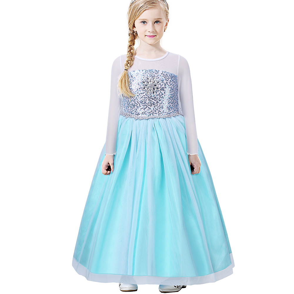BAOHULU Girl Party Ball Gown Diamond Lace Long Sleeve One Piece ...