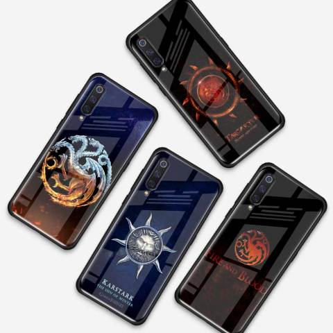Game Of Throne House Tempered Glass Case for Xiaomi Redmi Note 7 6 Pro K20 Pro Redmi 7 Mi 9 Cell Mobile Phone Cases Cover Coque Karachi
