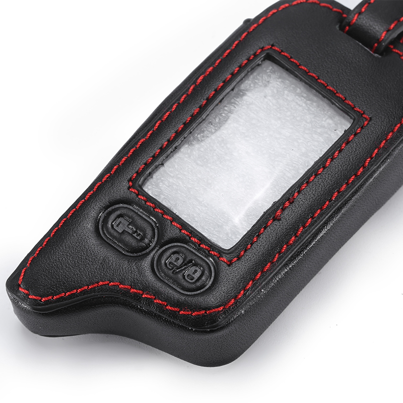 5 Buttons Leather Key Cover Case For Tomahawk TZ9010 TZ9030 LCD Remote Only Tomahawk TZ 9010 Two Way Car Alarm