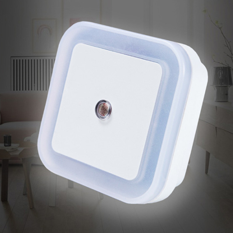 Sensor Light Control Night Light Mini EU US Plug Novelty Square Moon Lamp Baby Bedroom Lamp Colorful Children's Night Light,Q