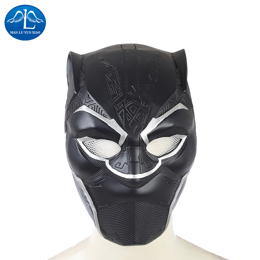 MANLUYUNXIAO Adult Full Face Black Panther Mask Movie Black Panther Cosplay Mask Men's Party Mask for Halloween