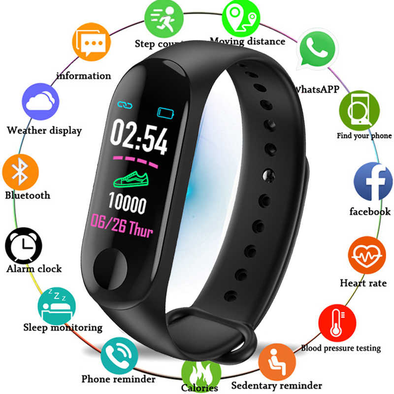 LIGE2019 New smart Bracelet Men Pedometer Heart rate IP67 waterproof High cost performance Multi-language sport watch smartWatch
