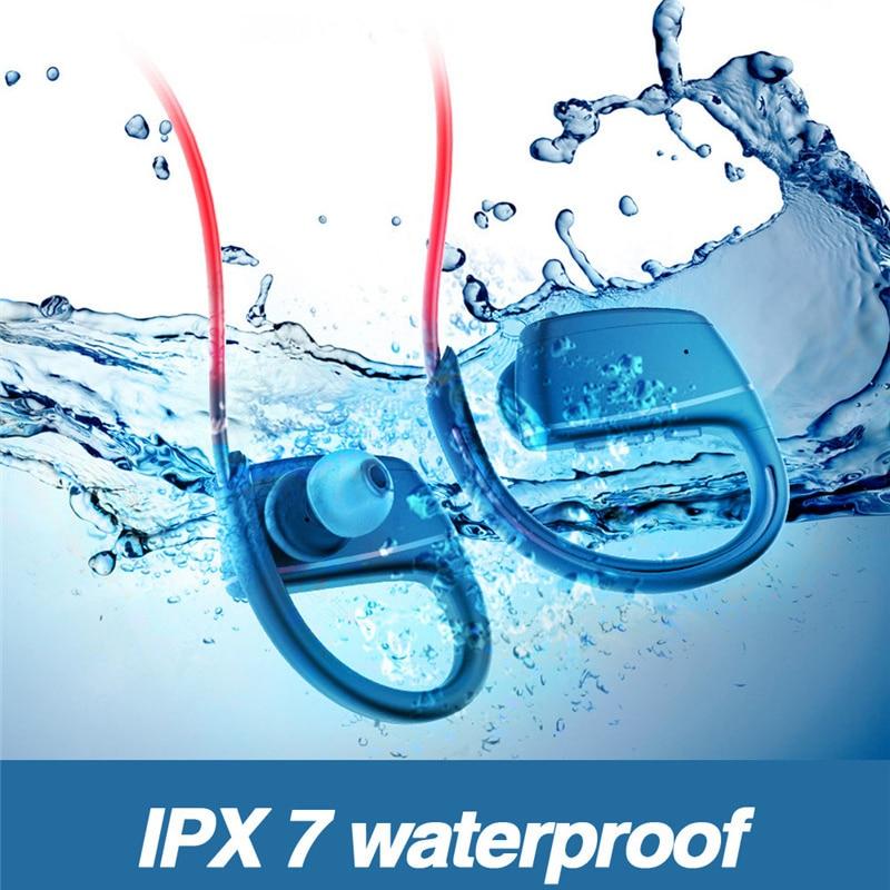 bluetooth earphones & headphones durable Waterproof Wireless Headset Stereo Sport Swim IPX7 noise cancelling running headset