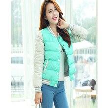 2016 Новая Зимняя Куртка Женщины Корея Мода Равномерное Теплые Куртки Зимние Пальто Женщины Хлопок Женский Парки A963