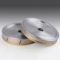1pc 6 diamond pencil grinding wheel for 3~12mm glass Straight edge processing bronze bond wheel