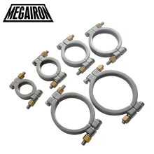 ФОТО megairon high pressure tri clamp clover stainless steel ss316 clamp clover sanitary pipe fittings 1.5