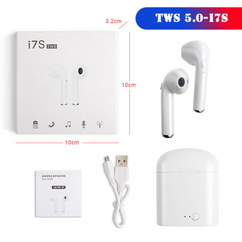 I7s i7 TWS 5.0 Wireless Bluetooth Earphone Headset Headphones For iphone Xiaomi Samsung Earbuds Earpieces With Silicone Holder