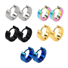 1 Set Round Shape Stainless Steel Piercing Unisex Earring Punk Gothic Barbell For Male Female Jewelry Trendy Earrings Hip Hop(China)