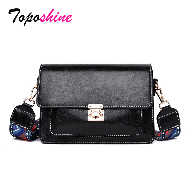 Square Bag Wide-Shoulder-Strap Messenger-Bag Small Female Personality High-Quality Casual