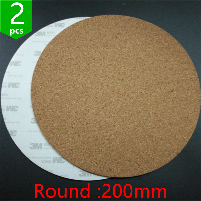 3d Printers & 3d Scanners Methodical Swmaker 2pcs* 200mm Round Adhesive Cork Sheets For Kossel 3d Printer Mk2y Heatbed Heat Bed Hot Plate Issulation Cork Sheet Professional Design Office Electronics