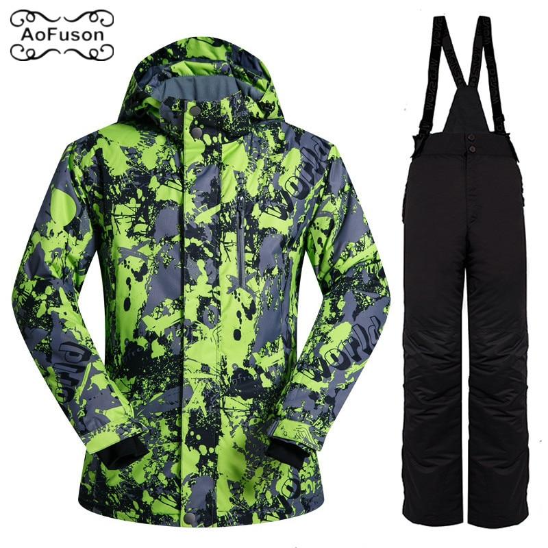 Combinaison de Ski ensemble extérieur hommes coupe-vent imperméable thermique Snowboard neige mâle veste de Ski et pantalons de Ski ensembles Skiwear vestes d'hiver